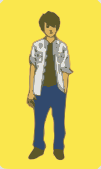 free vector Teenager Boy clip art