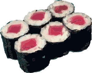 free vector Tekka Maki Sushi clip art