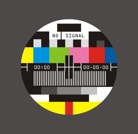 free vector Television screen no signal vector