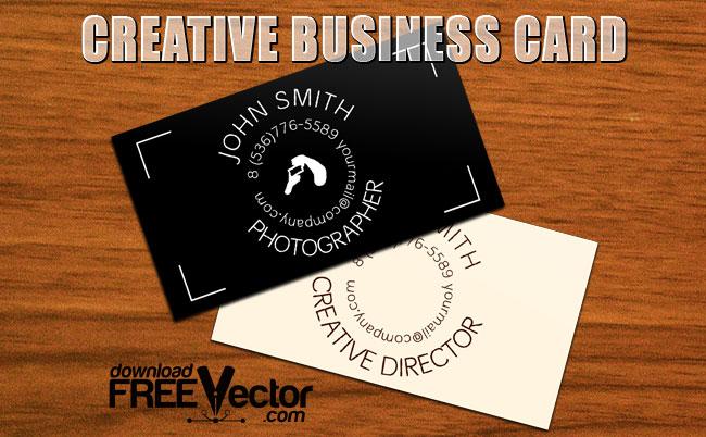 free vector Template Creative B-Card