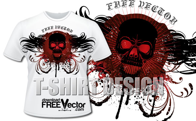 Template TShirt Design Free Vector Vector - T shirt graphic design template
