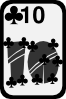 free vector Ten Of Clubs clip art