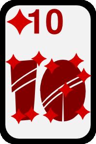 free vector Ten Of Diamonds clip art