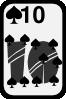 free vector Ten Of Spades clip art