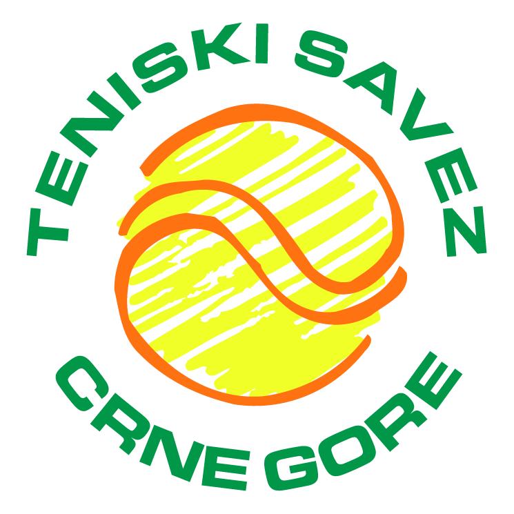 free vector Teniski savez crne gore