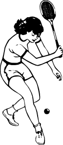 free vector Tennis Player clip art