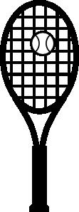 free vector Tennis Racket And Ball clip art