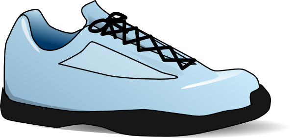 Tennis shoe shoe clip art black and white free clipart