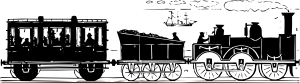 free vector Th Century Train clip art