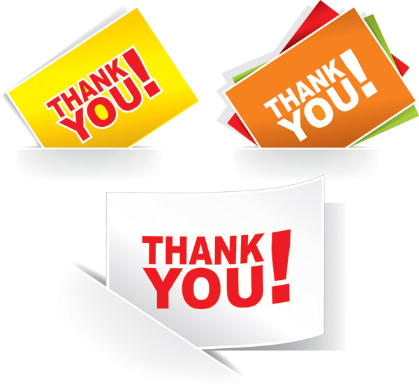 free vector Thank you clip art