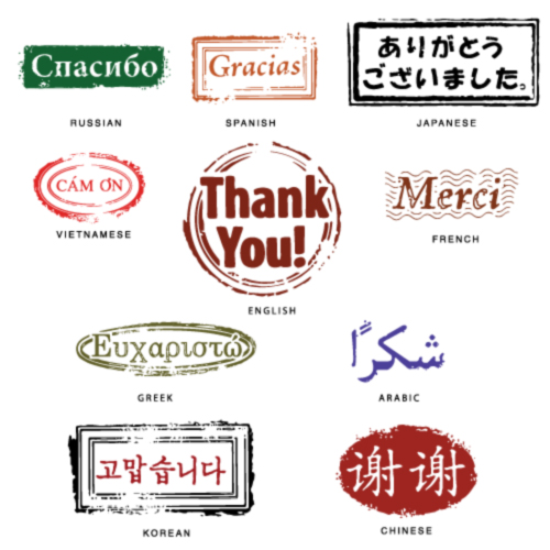 free vector Thank you seal languages