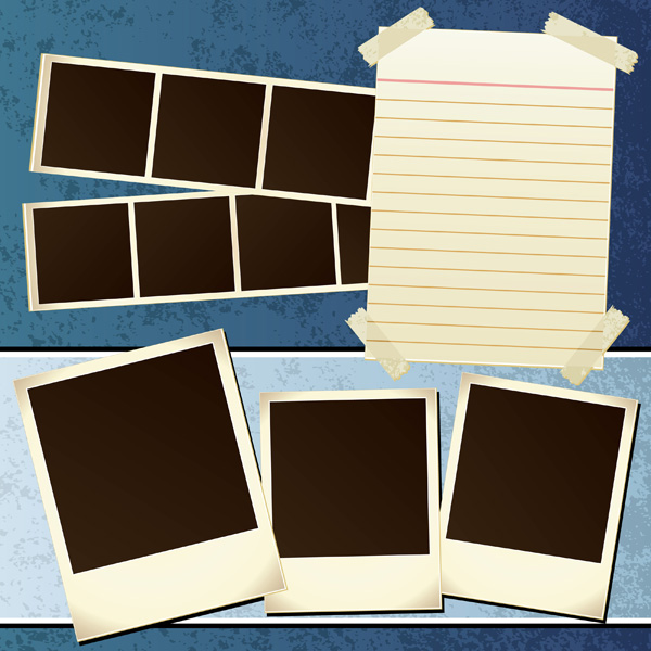 free vector The amount of and paper nostalgic photos