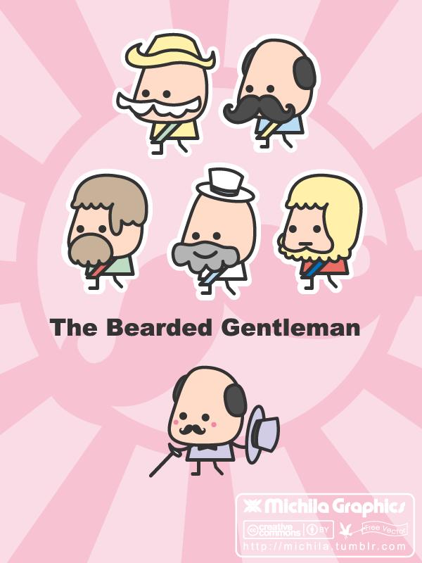 free vector The Bearded Gentleman Vectors