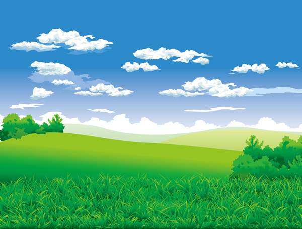 free vector The beautiful countryside scenery vector