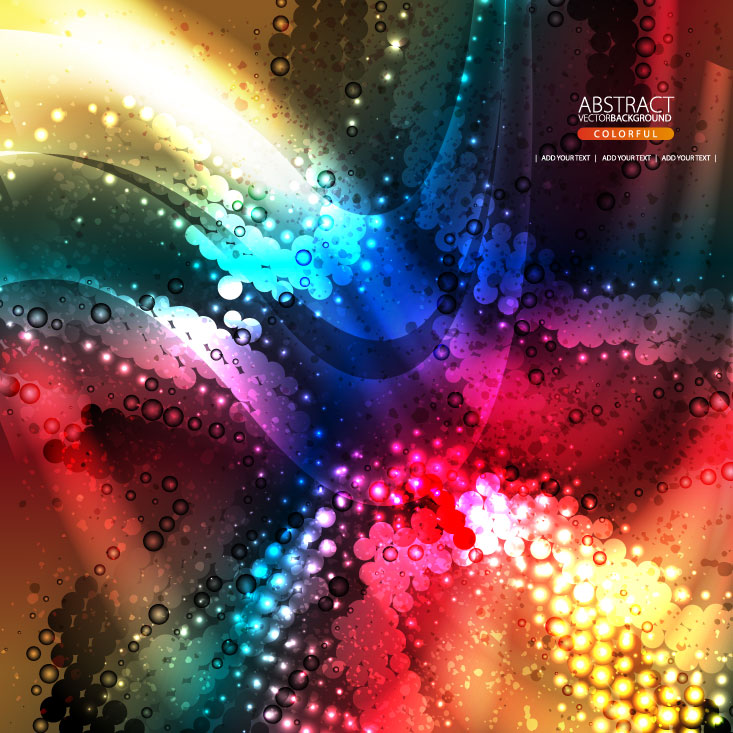 free vector The brilliant dynamic flow color 02 vector