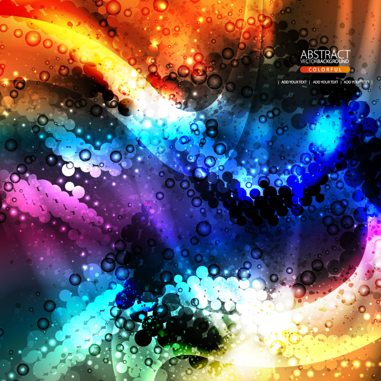free vector The brilliant dynamic flow color 03 vector