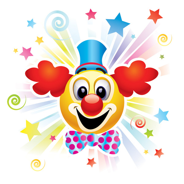 free vector The Clown & Carnival Vector Of Material The