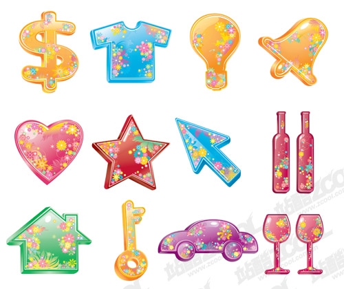 free vector The colorful life of material supplies Vector