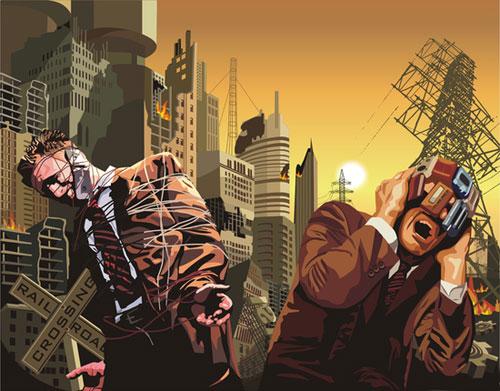 free vector The doomsday urban vector