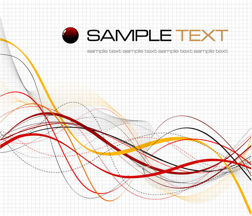 free vector The dynamic lines of cool background material vector