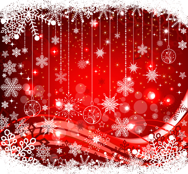 free vector The exquisite christmas ball background 05 vector
