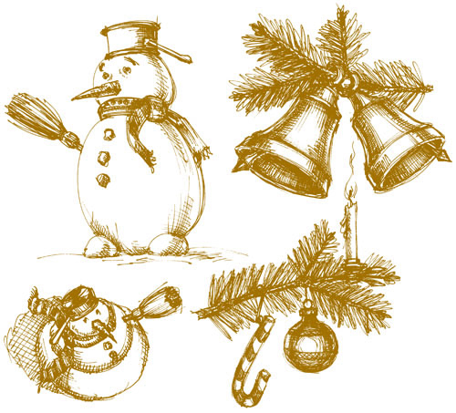 free vector The exquisite christmas bells background 05 vector
