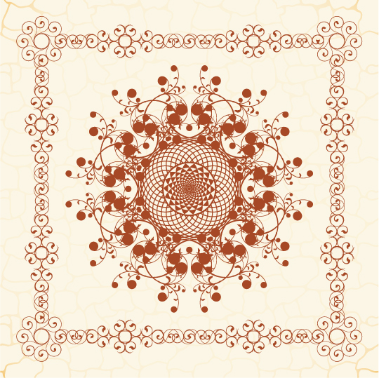 free vector The exquisite european pattern 02 vector