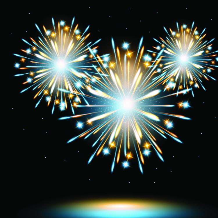 free vector The fireworks effect 02 vector