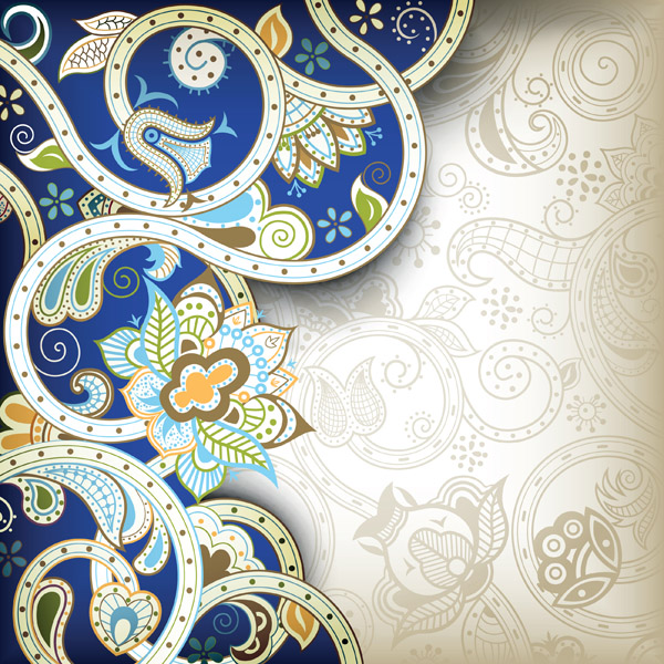free vector The gorgeous classical pattern vector 1