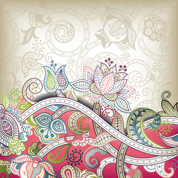 free vector The gorgeous classical pattern vector 4