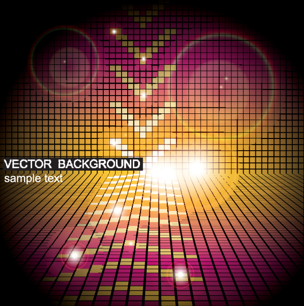 free vector The gorgeous starstudded background 02 vector