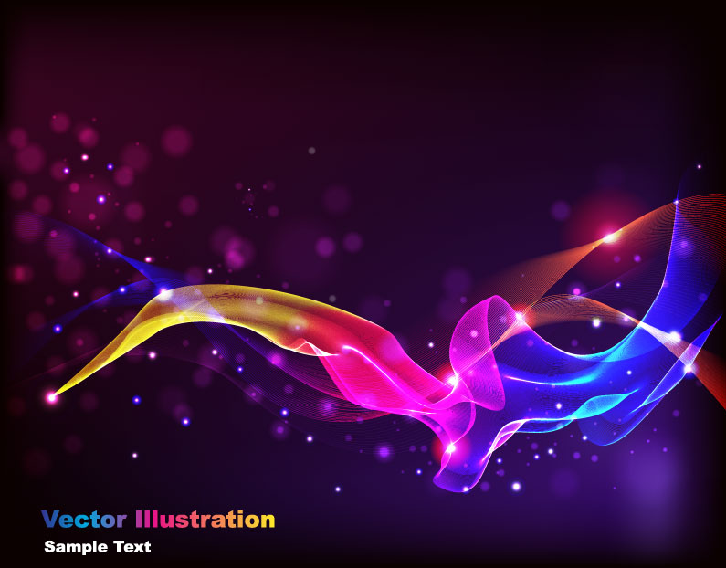 free vector The gorgeous starstudded background 03 vector