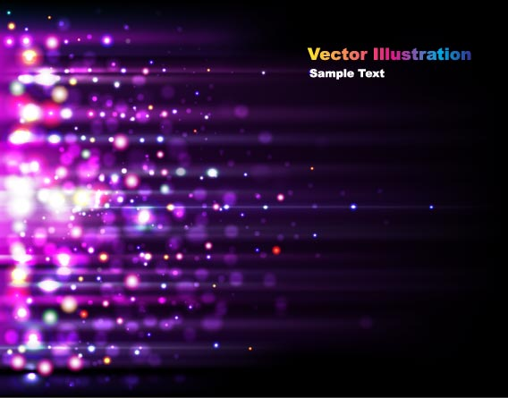 free vector The gorgeous starstudded background 04 vector