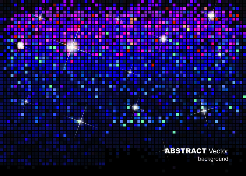 free vector The gorgeous starstudded background of 01 vector
