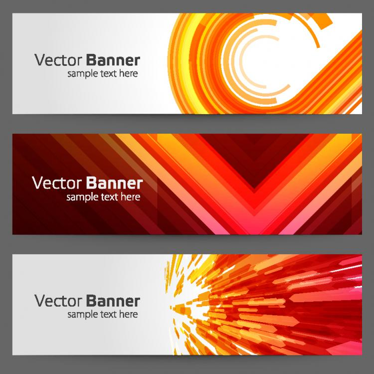 free vector The gorgeous strip card 01 vector