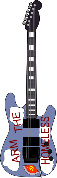 free vector The Homeless Guitar clip art