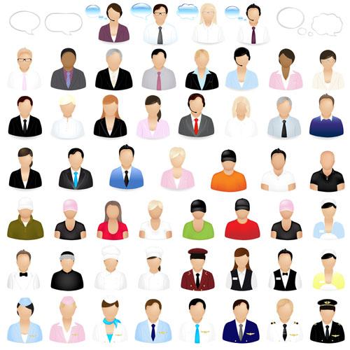 free vector The job figures vector