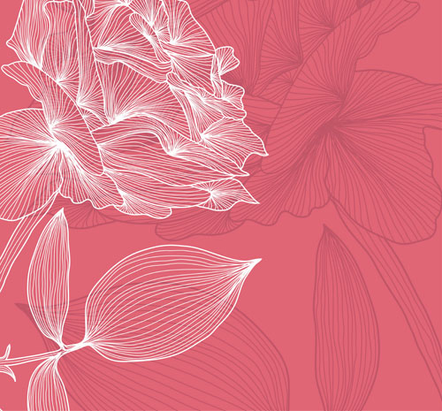 free vector The lines fresh flowers 01 vector