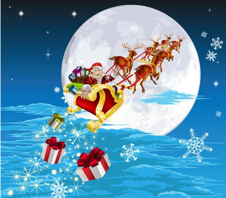 free vector The lovely santa illustrator 05 vector