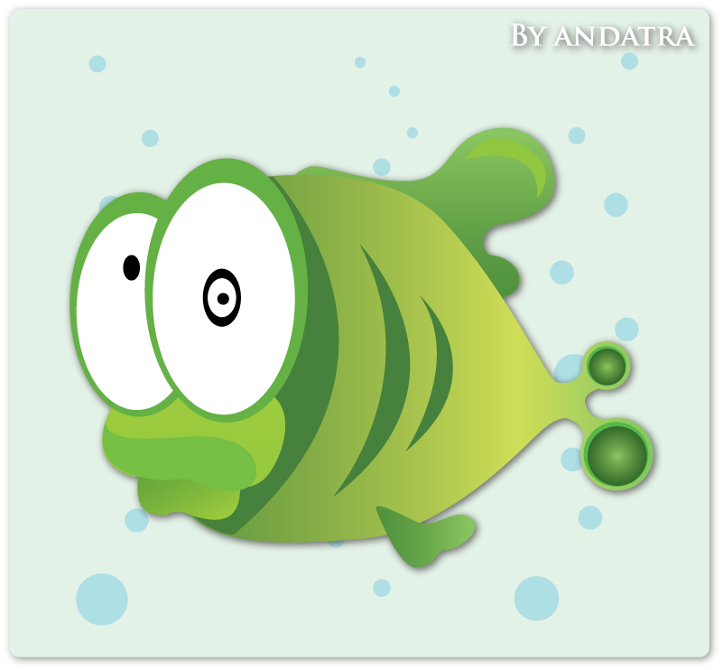 free vector The lovely tropical fish vector