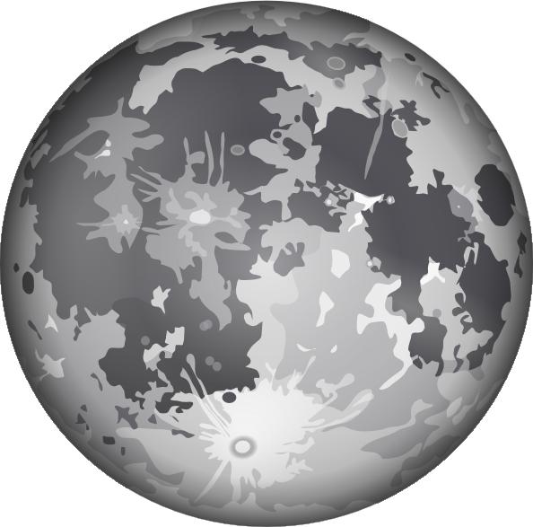 free vector The Moon clip art