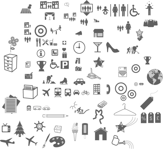 free vector The more common vector graphics icon material