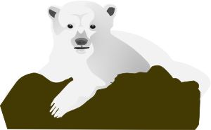 free vector The Polar Bear clip art