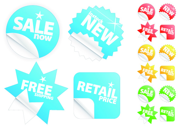 free vector The sale of stickers feel clean vector