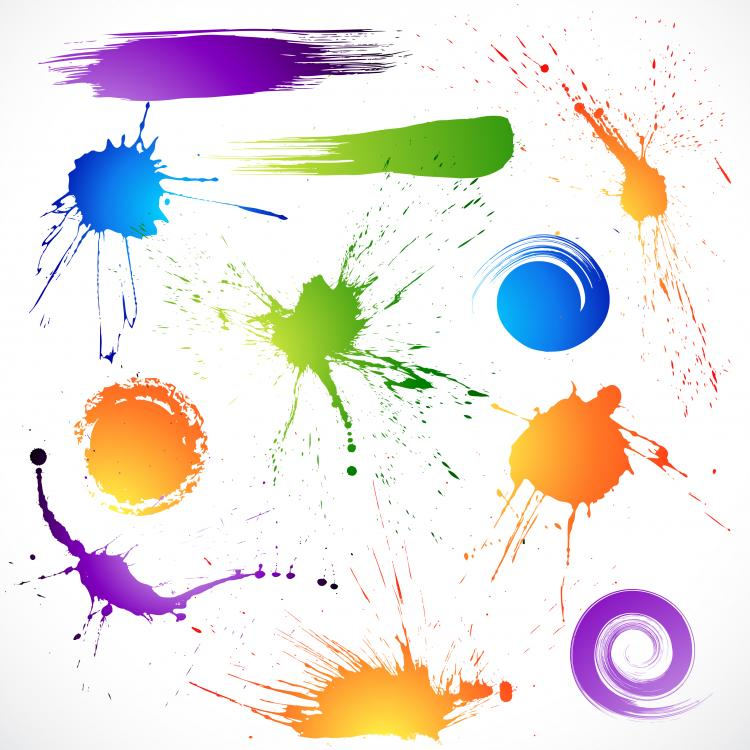 free vector The splash brush effects vector