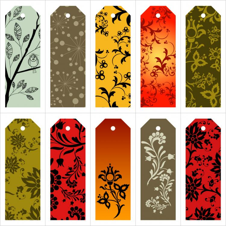 free vector The tag number of beautiful background pattern vector