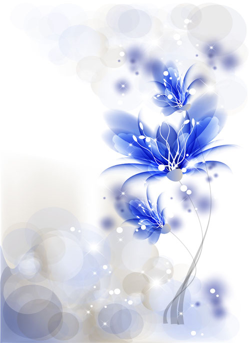 free vector The trend flowers background 04 vector