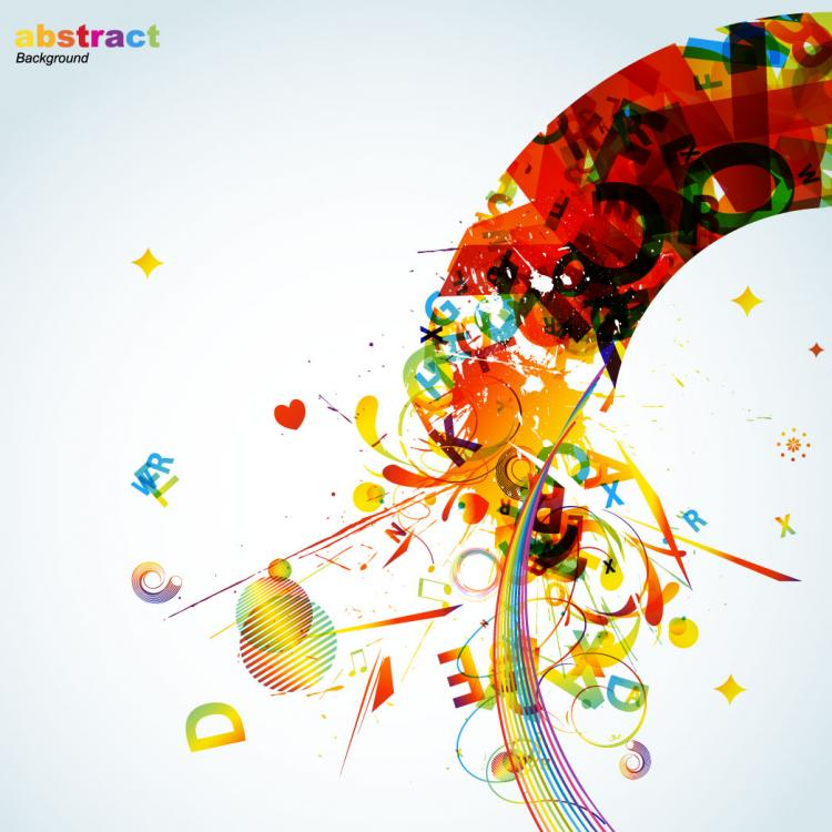free vector The trend of colorful graphics - vector