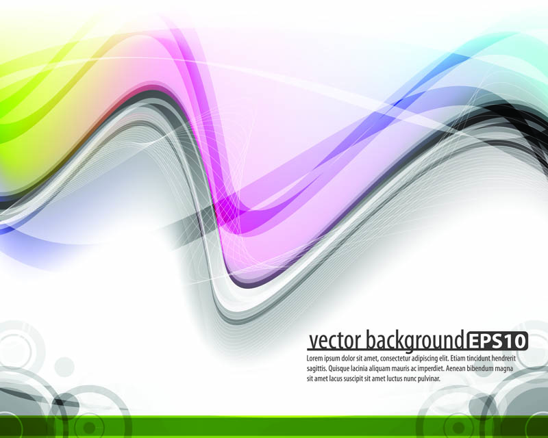 free vector The trend of dynamic flow line gorgeous 01 vector