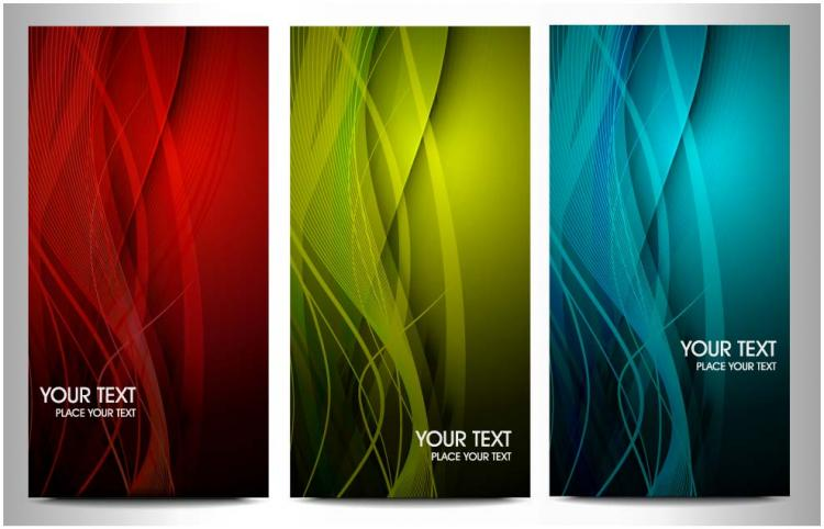 free vector The trend of dynamic graphics card brilliant 03 vector